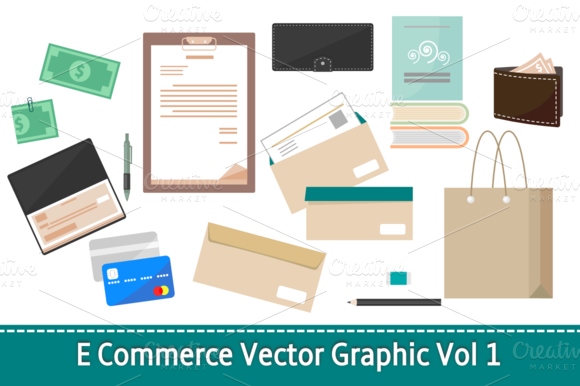 E Commerce Vector Graphic Vol 1