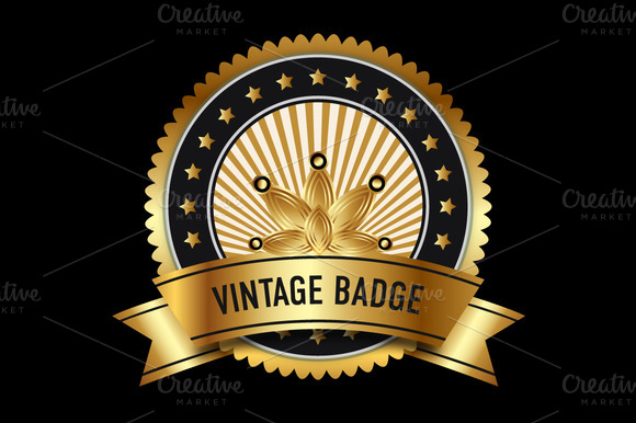 Gold Vintage Badge