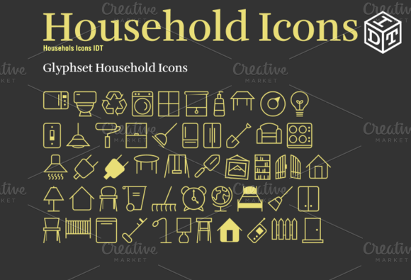 Household Icons Font Web Font