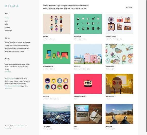 Roma WordPress Theme