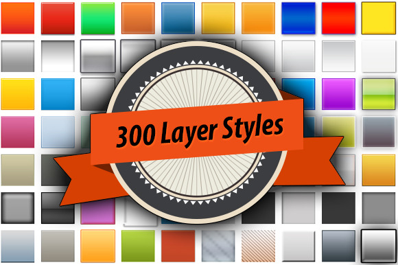 300 Layer Styles For Photoshop