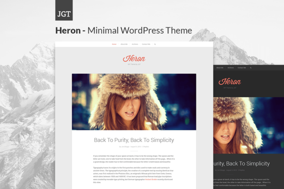 Heron Responsive WordPress Theme