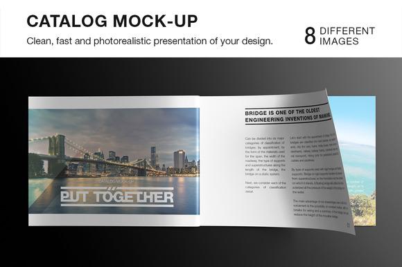 Landscape Magazine Catalog Mockup