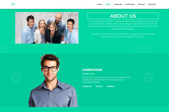 21 Single Page HTML Template
