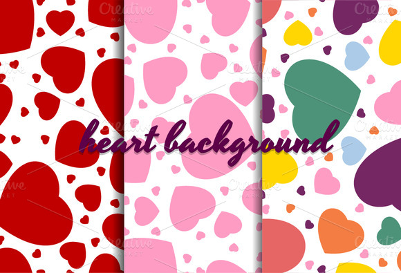 Color Heart Background