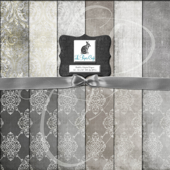 Neutral Damask Solid Pattern Paper