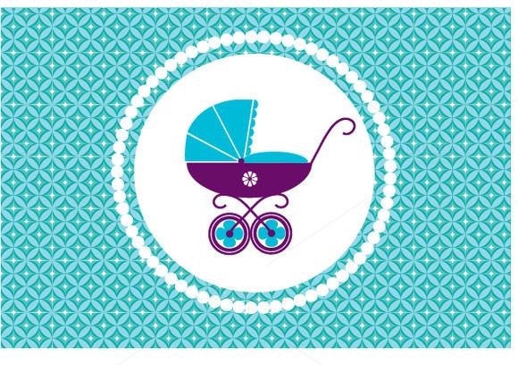 New Born Baby Birthday Card Vector