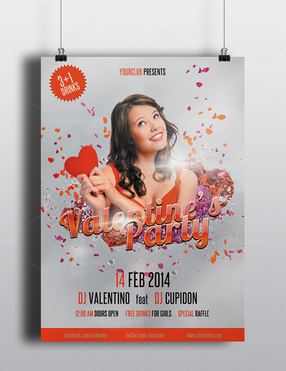 2014 Valentine S Day Party Flyer