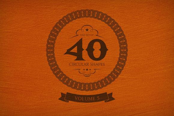 40 Circular Shapes Vector Vol 5