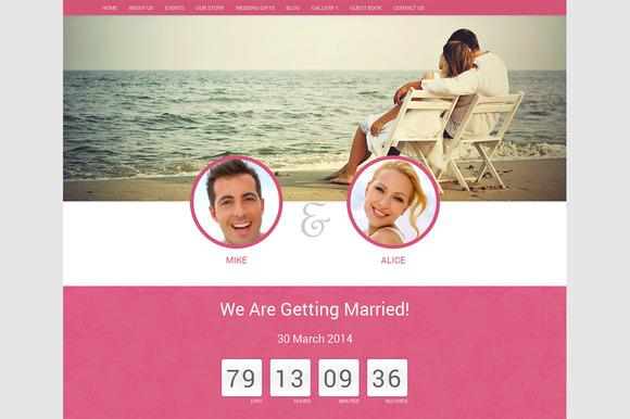 Wordpress Wedding Theme- Wedding