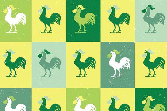 Vintage Rooster Pattern