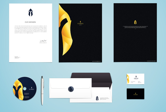Icarus Corporate Stationary