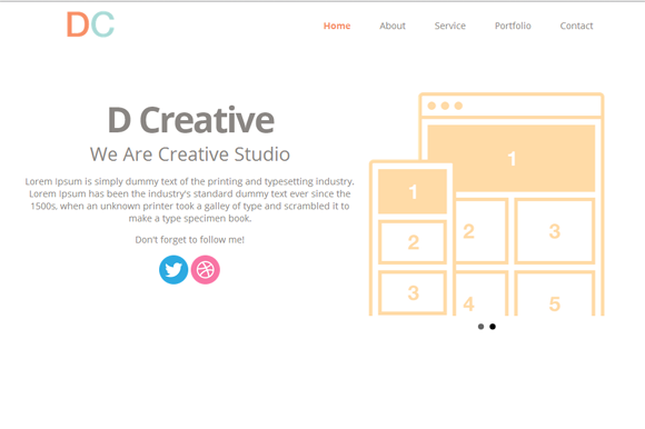 DCreative-True Parallax Theme