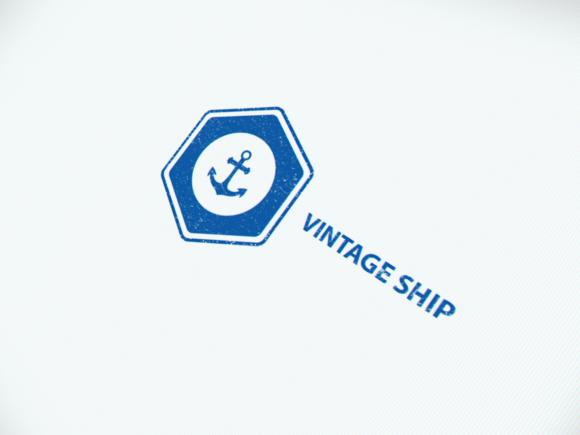 Vintage Ship Logo
