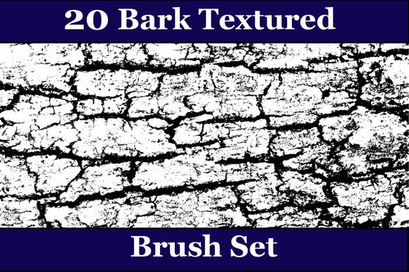 20 Bark Texture Brush Set