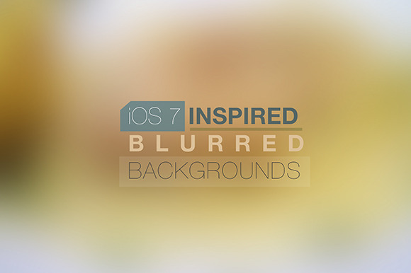 IOS7 Inspired Blurred Back..Pack