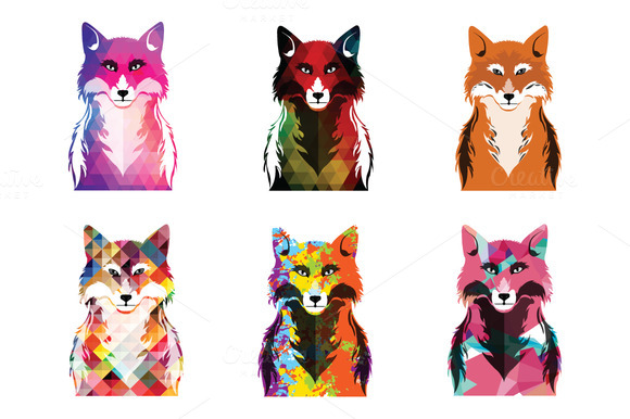 Colorful And Pattern FOX