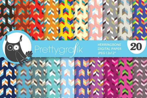 Herringbone Arrows Digital Paper
