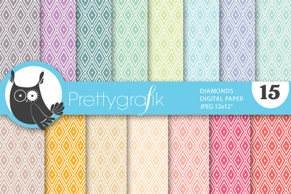 Diamond Harlequin Digital Paper