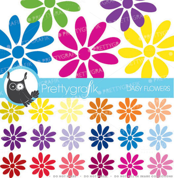 30 Flower Daisy Clipart Commercial
