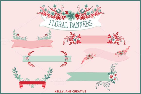 Floral Banners Laurels Bouquets