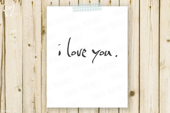 I Love You Home Decor Printable Art