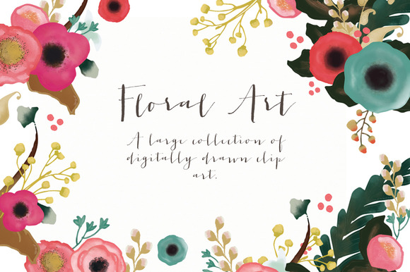 Floral Art Collection Digital Clip