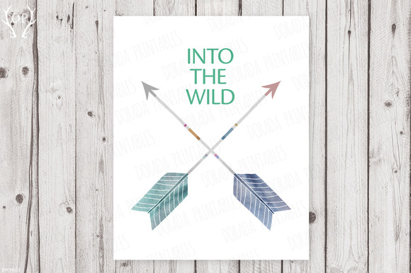 Crossed Arrows Print Art
