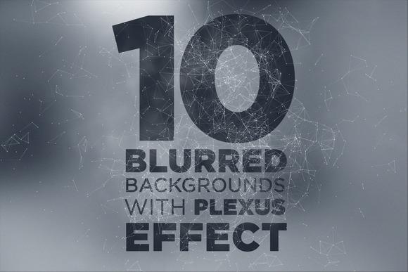 10 Blurry Backgrounds Plexus Effect