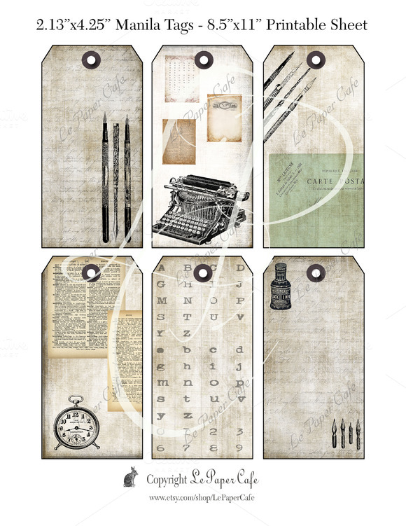 Writer S Block Printable Tags