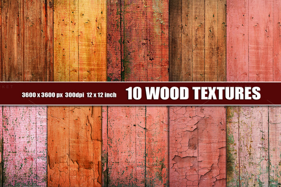 PAINTED WOOD TEXTURE BACKGROUND RED