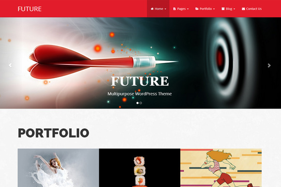 Future Bootstrap WordPress Theme