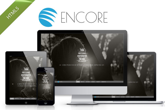 Encore Folio Bootstrap Theme