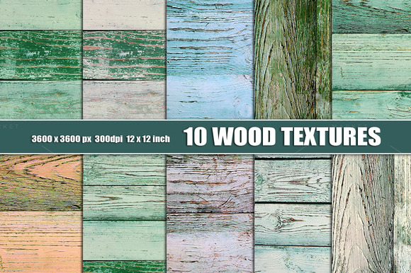 10 Painted Wood Textures