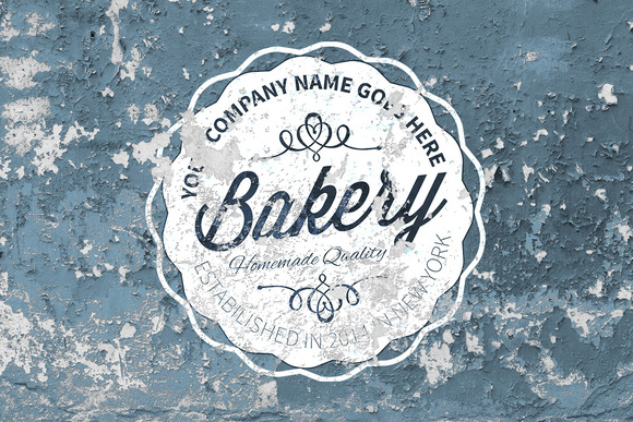 5 Vintage Overlay Textures Mock-up