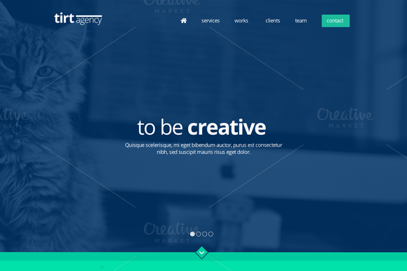 Tirt Agency Onepage PSD Template