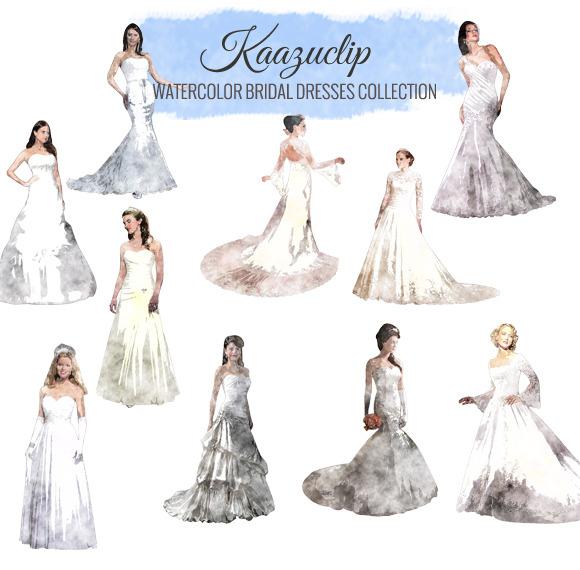 Watercolor Wedding Dresses