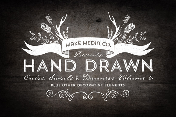 Hand Drawn Curls Banners Vol 2