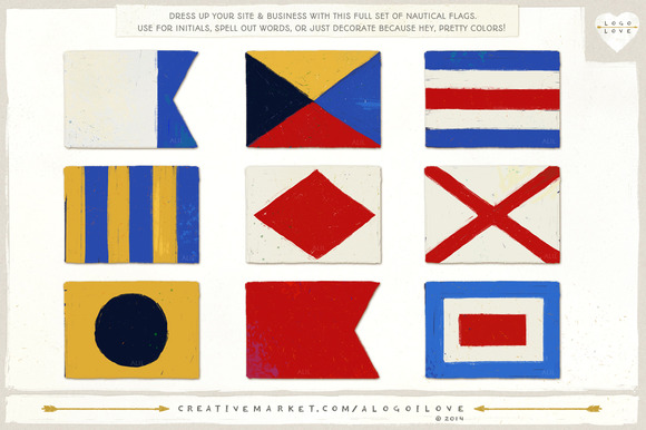 Nautical Flags Colorful Alphabet