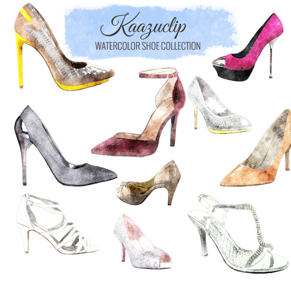 Watercolor Shoe Collection