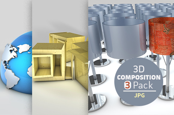 3D Composition 3 Pack