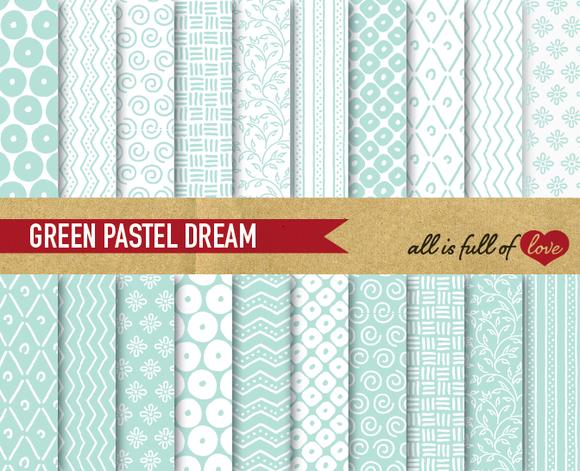 Aqua Green Digital Background Papers