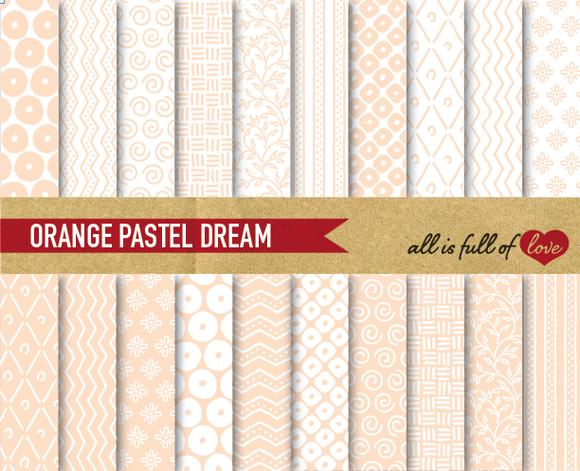 Peach Pastel Background Patterns