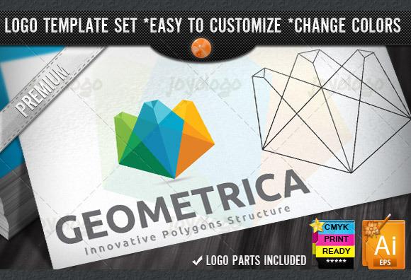 Colorful Creative 3D Geometric Logo