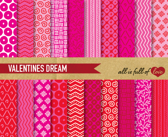 Pink Red Valentines Backgrounds