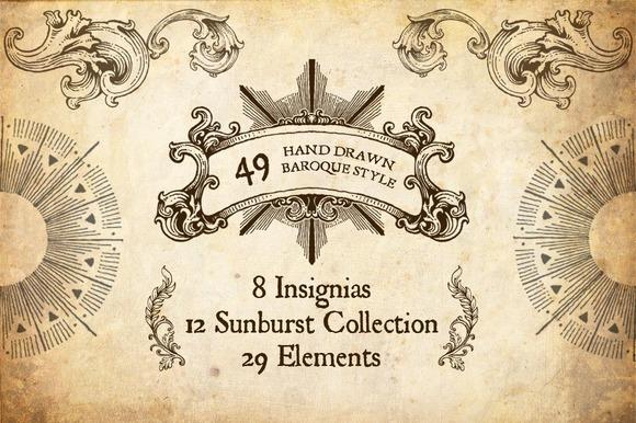 49 Hand Drawn Baroque Style