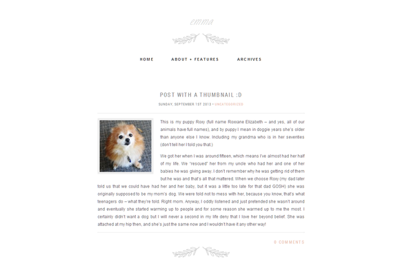 Emma An Elegant Wordpress Theme