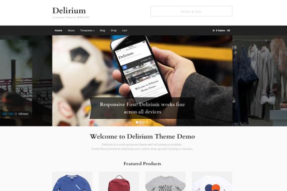 Delirium WooCommerce Blog Theme