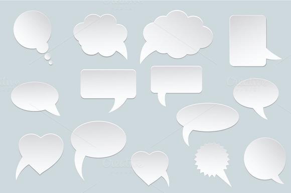 White Communication Speech Bubbles