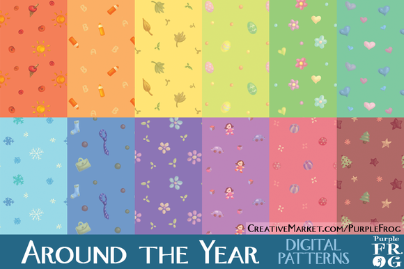 AROUND THE YEAR Digital Patterns